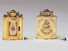 """Jeweler's watch lighter with cabochon sapphires on top and wheels inset with diamonds, inscribed """"Paris 1934."""""""