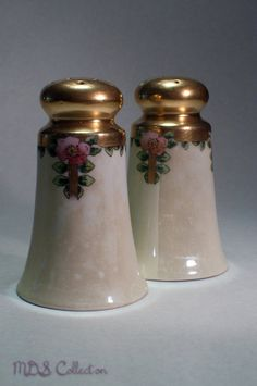 Vintage Lusterware Salt and Pepper Set with Gold by MDSCollection, $12.00