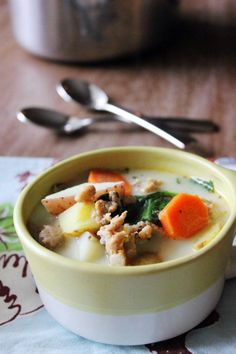 Sausage, Potato, and Spinach Soup