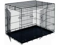 Black 48' Double Door Folding Metal Dog Crate >>> Want to know more, click on the image. (This is an affiliate link) #Pets