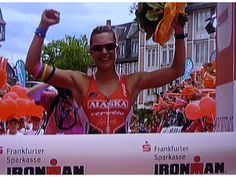 "Caroline ""Xena"" Steffen defends her title at Ironman Frankfurt."