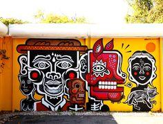 """Street art   Mural """"Zapotec self-portrait"""" (Miami, USA) by Neuzz [aka Miguel Mejía]"""