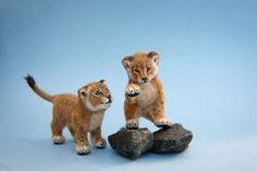 Dollhouse Miniature Lion Cubs