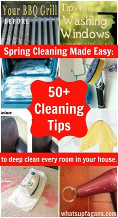 50  Cleaning Tips and Tricks to deep clean every room in your home! This is an awesome list to help with spring cleaning!