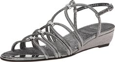Stuart Weitzman Women's Nuts Iron Foil Nappa Sandal ** Check out this great product. (This is an Amazon affiliate link)