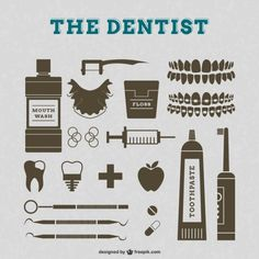 Vecteur de dentiste graphismes rétro More