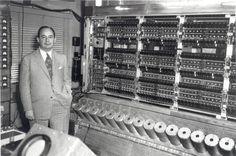 John Von Neumann and Williams storage tubes at the Institute for Advanced Study (IAS) machine, 1952.