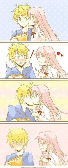 Super Ideas For Funny Anime Couples Manga Anime Couple Kiss, Manga Couple, Anime Couples Drawings, Anime Couples Manga, Manga Anime, Anime Girls, Anime Art, Images Kawaii, Cute Anime Coupes