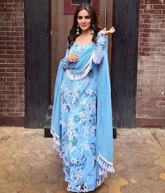New Designer Inspired Suits Custom-made Suits now available in any sizes. Pakistani Dress Design, Pakistani Dresses, Indian Dresses, Indian Outfits, Punjabi Fashion, Bollywood Fashion, Indian Fashion, Womens Fashion, Designer Party Wear Dresses