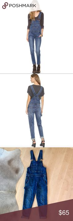 """BLANK Denim Overalls BLANK Denim Overalls. These are so cute! They feature a slim fit and zip up the side. 98% cotton 2% elastane. Inseam 29"""". Still for sale on Shopbop. Worn only a handful of times. Excellent condition. I have an overalls problem. Making myself part with the ones I wear the least. Blank Denim Jeans Overalls"""
