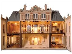 Beautiful - check out the double staircase - dollhouse interior