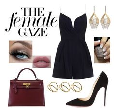 """Female gaze"" by beyourownkindofbeaut ❤ liked on Polyvore featuring Christian Louboutin, Hermès, Zimmermann, Ana Khouri and ASOS"