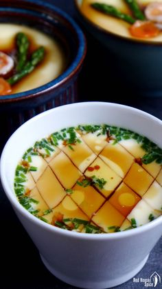Chinese steam eggs is silky smooth and heavenly soft.