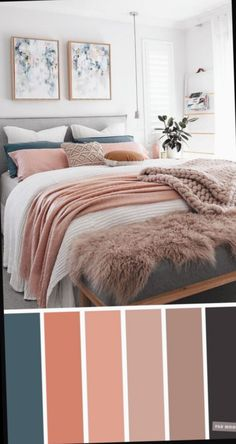 Mauve, Peach and Teal Colour Scheme For Bedroom. Mauve, Peach and Teal Colour Scheme For Bedroom. Mauve, Peach and Teal Colour Scheme For Bedroom. Mauve and peach color scheme for home decor From beautiful wall colors to eye-catching Teal Bedroom Decor, Peach Bedroom, Best Bedroom Colors, Bedroom Colour Palette, Room Ideas Bedroom, Home Bedroom, Teal Home Decor, Teal Bedrooms, Teal Master Bedroom