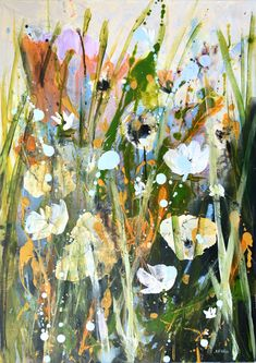 Lie Among the Flowers — Rine Philbin Art Watercolour, oils and acrylic paintings Bird Artists, Irish Landscape, Irish Art, Red Poppies, Acrylic Art, Large Art, Fine Art Gallery, Watercolor Art, Original Paintings