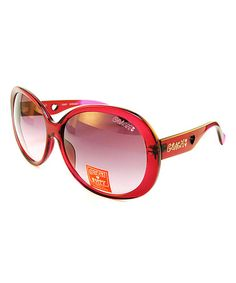 Take a look at this Coach Burgundy Round Sunglasses by Coach Sunglasses & Opticals on #zulily today!