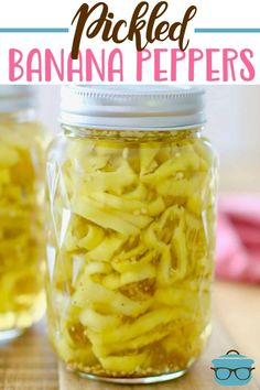 Easy Pickled Banana Peppers are super simple to make and so tasty! Vinegar, must. - Easy Pickled Banana Peppers are super simple to make and so tasty! Recipes With Banana Peppers, Sweet Banana Peppers, Stuffed Banana Peppers, Banana Pepper Recipes, Yellow Pepper Recipes, Pickled Pepper Recipe, Pickled Hot Banana Peppers Recipe, Banana Pepper Sauce Recipe, Hot Pepper Mustard Recipe