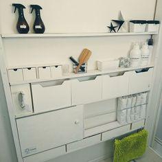Diy Home Repair, Double Vanity, Bathroom Medicine Cabinet, Minimalism, Kitchen Cabinets, Diy Projects, Organization, Interior, Modern