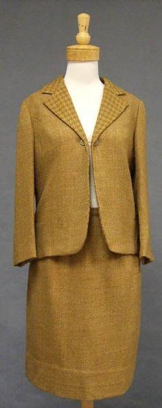 Vintageous, LLC - Caramel Wool 1960's Suit w/ Houndstooth Trim, $55.00 (http://www.vintageous.com/caramel-wool-1960s-suit-w-houndstooth-trim/)