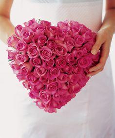 Heart wedding bouquet #valentine
