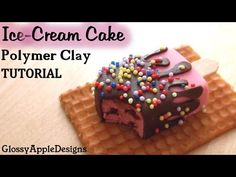 Strawberry Shortcake Ice Cream Tutorial, Miniature Food Polymer Clay Tutorial - YouTube