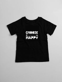 Choose Happy Jersey Short Sleeve Tee for baby and toddler
