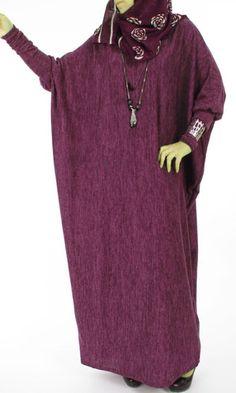 Butterfly Velvet Abaya Dress