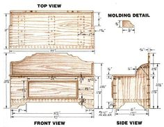 Woodworking plan for Blanketchest. Complete woodworking plans with detail descriptions can be found on my website: www.tedswoodworkplans.com