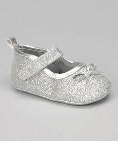 Take a look at this Silver Glitter Mary Jane by Tender Toes on #zulily today!