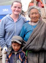 """""""I enjoyed most the chance to get immersed right into the culture in places that most tourists would never know about or even think of trying to get to."""" - Sarah Daniel, 25, Tibet (4 Weeks Construction Quest)"""
