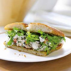 Mediterranean Halibut Sandwiches: eating the med way has been shown to to reduce the risk for heart disease, as they generally include foods with healthy monounsaturated fats. | Health.com