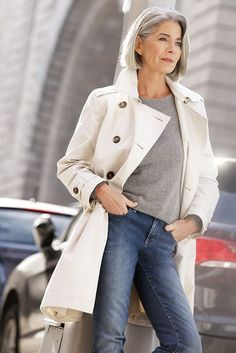 65 Trendy clothes for women over 50 outfits 50 style Over 50 Womens Fashion, 50 Fashion, Fashion Over 40, Trendy Fashion, Autumn Fashion, Fashion Outfits, Fashion Spring, Jackets Fashion, Fashion Ideas