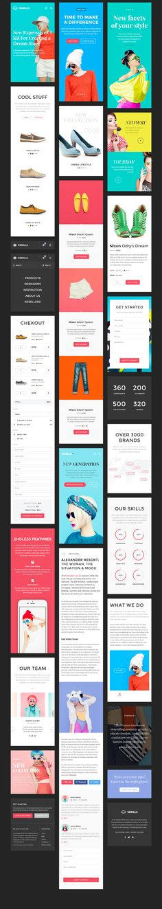 We're happy to introduce you a new premium quality product focusing on bright color schemes and bold characters. Vanilla UI Kit is a great fit for… Web Design Mobile, Mobile Application Design, Web Ui Design, Site Design, Ui Kit, Wireframe, Design Responsive, Android App Design, Ui Design Inspiration