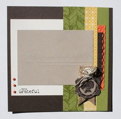 Stampin' Up Handmade 8 x 8 Scrapbook Page by Rubberredneck on Etsy, $8.95