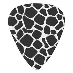 Modern Black and White Print Guitar Picks  $14.50  by PatternPapers  - cyo customize personalize unique diy idea