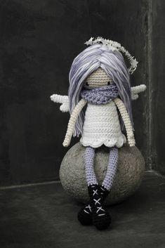 Items similar to Violet Angelique the Doll on Etsy Crochet Angel Pattern, Crochet Applique Patterns Free, My Best Friend's Birthday, Little Cotton Rabbits, Crochet Dolls, Crocheted Toys, Love Crochet, Crochet Ideas, Amigurumi Doll