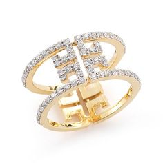 Ivanka Trump Metropolis 18K Yellow Gold Open Diamond Ring