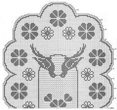 Салфетки с птицами крючком овальная и круглая 1 схема 2
