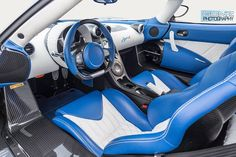 The Leather and Ostrich Leather interior of a Koenigsegg Agera R. Koenigsegg Automotive AB Koenigsegg Registry Koenigsegg Agera
