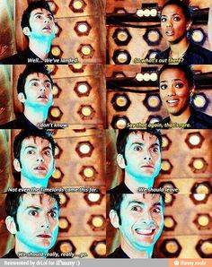 All of the doctors are fantastic but I love these moments in the show! David Tennant has such an awesome interpretation of The Doctor!