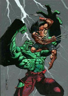 Hulk-Wolverine / Six Hours 4 / Marvel 2003 / 2002 (Simon Bisley) Simon Bisley, Comic Book Artists, Comic Artist, Comic Books Art, Marvel Comics Art, Marvel Heroes, Hulk Marvel, Ms Marvel, Captain Marvel