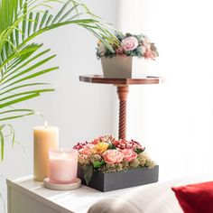 """The Maeva Store on Instagram: """"#stylewithmaeva Not sure about how to deck up that side table in your living room? There you go!  All you will need is to pick up candles…"""" Home Decor Inspiration, Deck, Candles, Table Decorations, Living Room, House Styles, Store, Furniture, Instagram"""