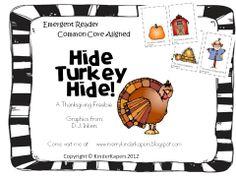 Classroom Freebies Too: Hide Turkey Hide