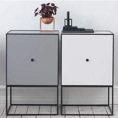 A pair of Frame Sideboards with the Kubus Bowl and Kubus 1 candleholder for sharp contemporary styling. See more Frame inspiration at @frame_bylassen and Kubus inspiration at @kubus_bylassen. #bylassen #framesideboard #bylassenframe #kubusbowl  #kubus #kubuscandleholder #kubuslysestage #lysestage #candleholder #storage #bowl #madeindenmark #nordicdesign #scandinaviandesign #danishdesign