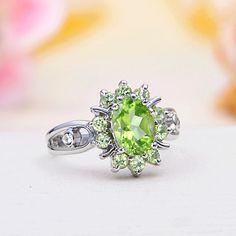 Peridot JewelrySterling Silver Peridot Ring