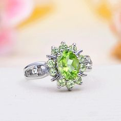 Peridot Jewelry	Sterling Silver Peridot Ring