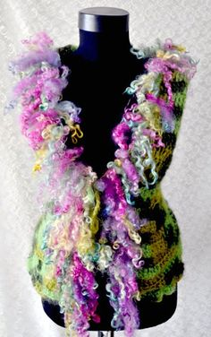 Crocheted Vest Larisahandmadecrochetedfor by irinacarmen on Etsy, $125.00
