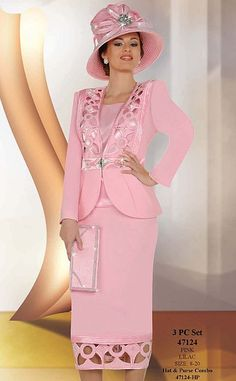 Ben Marc International Womens 3pc Church Suit with Cutwork 47124 image
