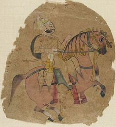 Unknown Artist Rajput Chief on Horseback Painting Indian, century Creation Place: Kotah, Rajasthan, India Ink and opaque watercolor on paper 20 x cm x 6 in. Elephant Ride, Harvard Art Museum, Indian Folk Art, India Ink, Hindu Art, Indian Paintings, Rajasthan India, Jaipur, Art World
