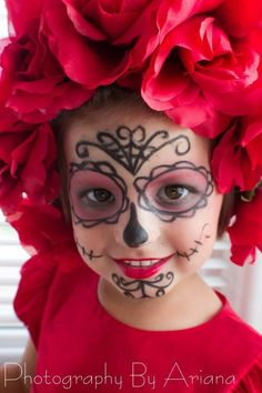 dia de los muertos makeup for kids - Google Search